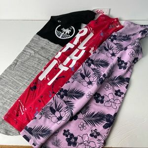 Justice tank top bundle of 3 NWT graphic tank